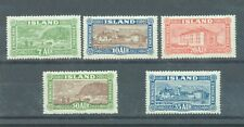 Iceland 1925 Pictorials sg.151-5 MH set of 5