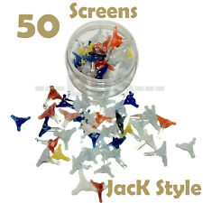 50+ Jack style glass screen for pipes (w/ plastic container) U.S.A seller