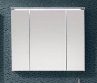 Spiegelschrank in beton/ weiss mit LED Beleuchtung Hängeschrank Woody 32-00281