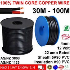 New 4mm Twin Core Automotive Battery Copper Cable 4 Dual 2 Wire 12v 30 100 Metre