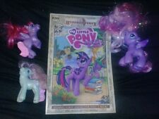 My Little Pony LOT OF 3 ponies & comic book wow cool brony bronies collectible!