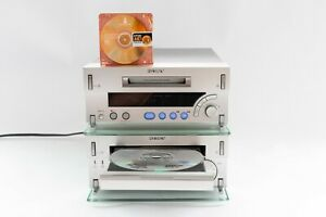Sony MDS-SD1 Mini Disc Recorder Player Deck & HCD-SD1 CD Player Amp Tuner Deck