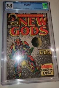 NEW GODS #1 CGC 8.5  ** 1st ORION !!!  DARKSEID ** JACK KIRBY CLASSIC