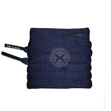Mr Lacy Slimmies - Navy Oval Shoelaces - 130cm Length 8mm Width
