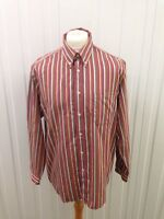 Men's Lacoste Shirt - 44 Large - Striped - Great Condition