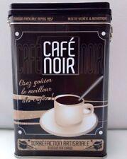 BOITE métal CAFé NOIR état quasi NEUF H=19cm