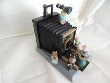 Spieluhr als Fotoapparat von Spieluhrenwelt mit Mäusen 15,2 cm hoch,dekekt!