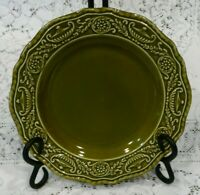 Set of 2 Regency Ironstone Canonsburg Pottery Co Vintage Green Salad Plates