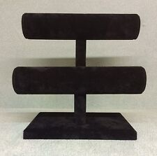 Double Bangle/Bracelet Jewellery display Stand (Black)