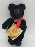 "Vintage 5"" jointed black Hermann Teddy bear made in West Germany"