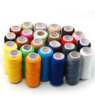 24 Spools Sewing Thread Polyester Assorted Colors 200 yards each Spool - NEW US