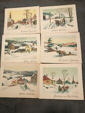 Vintage Rare Unique Christmas New Year Holiday Season Greetings 13 Cards