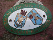 AUTOMOBIL CLUB WILHELMSHAVEN RÜSTRINGEN - schöne alte Plakette Badge Emblem