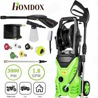 3000PSI 1.8GPM Electric Pressure Washer Home Power Cleaner Machine Sprayer~Green