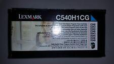 LEXMARK- C540H1CG ONE CYAN HIGH YIELD RETURN TONER CARTRIDGE ( NEW IN BOX )