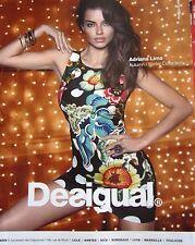 publicité  de presse PRET A PORTER  DESIGUAL Adriana Lima    en 2014 ref. 27819