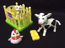 Vintage Littlest Pet Shop Farm Animal Lot Calf Cow Lamb Sheep Chicken Hen Kenner