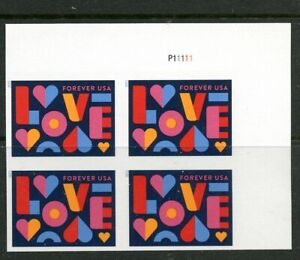 Imperf Plate Block #5543a Love Stamps No Die Cuts  #P11111