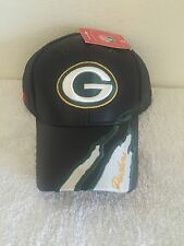 BRAND NEW GREEN BAY PACKERS ADJUSTABLE LEATHER BASEBALL CAP NFL