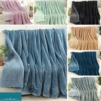 Large Soft Blanket Warm Fleece Washable Throw Cuddly Sofa Double King Bed Decor