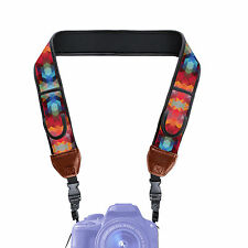 Adjustable Camera Strap w/ Cushioned Neoprene & Storage Pockets