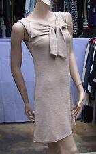 Glamour Dolls Fabulous Large Bow Front Peach Sleeveless Dress Size S