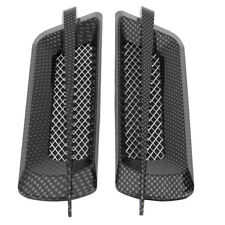 2Pcs Car Side Air Flow Vent Fender Hole Cover Intake Grille Sticker Carbon Fiber