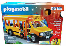 Playmobil 5680 School Bus Flashing Lights Plus 4 Figures Child Toy