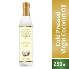 Coco Soul Cold Pressed 100% Natural Unrefined Virgin Coconut Oil, 250 ml