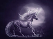 A4 Poster - Beautiful Purple Unicorn (Mythological Fantasy Picture Horse picture