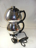 Vintage Sunbeam Chrome 1950s CoffeeMaster Vacuum Seal Percolator Model C30