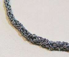 Unisex Necklace - Multi Link Stainless Steel Byzantine
