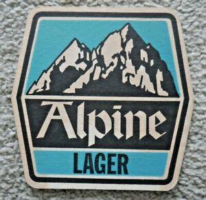 VINTAGE ALPINE LAGER BEER MAT - PERFECT FOR HOME PUB / BAR / MAN CAVE   J986