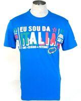 Puma Italia Football Blue Short Sleeve Tee T Shirt Men's NWT