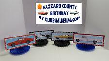 DUKES OF HAZZARD-  HAZZARD COUNTY BIRTHDAY DECORATIONS- DUKE FAMILY CAR FANS