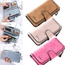 Women Leather Wallet Clutch Purse Bifold Ladies Checkbook Card Holder Organizer