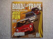 Road & Track 2003 January Mercedes E500 BMW Z4 Audi A8 Honda Mini Cooper S VW