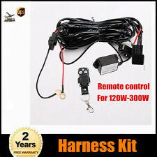 For 120W-300W LED light Bar Remote Control wiring switch Relay Harness Kit 2M