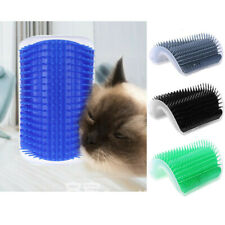 Pet Cats Self Groomer Brush Wall Corner Grooming Massage Comb Toy With Catnip