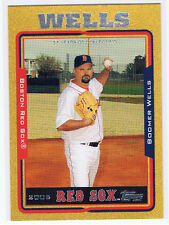 David Wells 2005 Topps Baseball #d Gold Parallel Boston Red Sox '98 Perfect Game