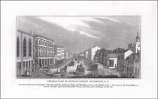 ROCHESTER, NEW YORK, BUFFALO STREET, antique engraving original 1845