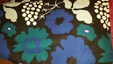 "Marimekko Kitchen Tea Towel Kukkatori  Print 100% Cotton 18"" x 27"" vtg"