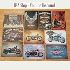 Harley Tin Sign, Harley Davidson Tin Sign, Harley Mancave Sign Harley Metal Art