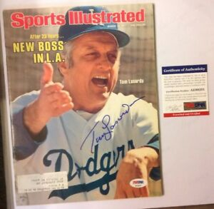 Tommy Lasorda PSA/DNA Authenticated Sports Illustrated March 14th 1977 Dodgers