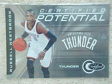 RUSSELL WESTBROOK 2010-11 PANINI TOTALLY CERTIFIED POTENTIAL CARD #12 010/249