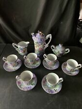 RS Prussia Ornate Tea Set Floral Decorated 1950s Reproduction