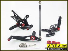 Yamaha YZF R1 09-2014 Area 22 Adjustable Rear Sets Black Rearsets Foot Controls