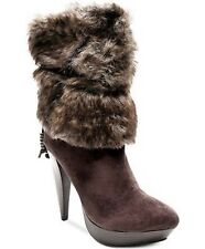 MSRP $149. TWO LIPS Womens Size 8.5M Suede and Faux Fur TUNDRA