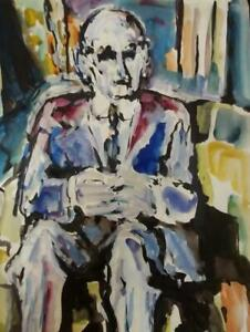 Quality FAUVIST 1960's Painting by PAUL GERCHIK 1913-1998 THE PORTRAIT