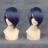 New Fantastic Black Butler Ciel Phantomhive Blue Mixed Grey Short Cosplay Wigs